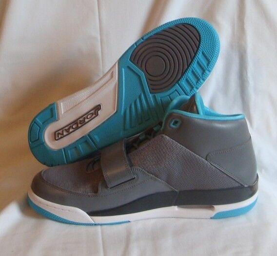 Nike Jordan Flight Club Mens sz Basketball Shoes Cool Grey Gamma Blue 602661 015