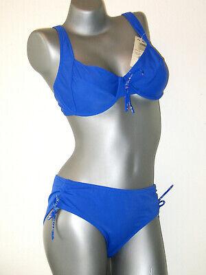 AE TRIUMPH Sloggi Bikini Oberteil blau schwarz NEU 40 B GB36 // FR42 // IT46