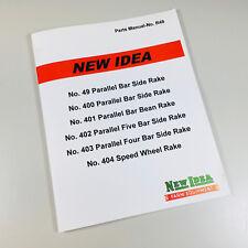 New Idea 404 Speed Wheel Rake Parts Manual Catalog