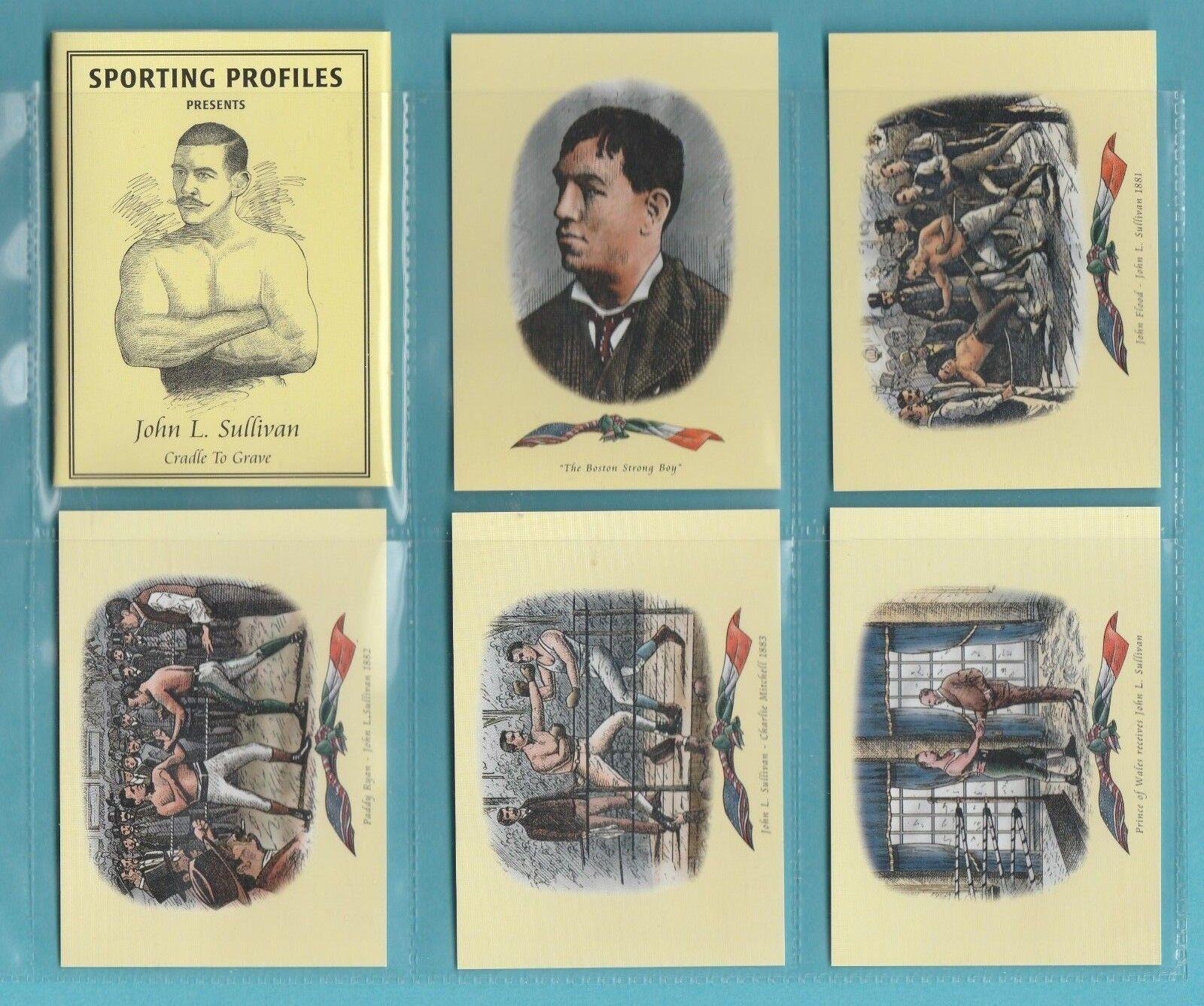 BOXING - SPORTING PROFILES - SET OF 11 BOXING CARDS - JOHN L