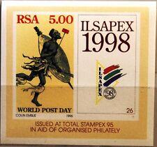 RSA SÜDAFRIKA SOUTH AFRICA 1995 Block 39 Weltposttag Post afr. Postläufer MNH