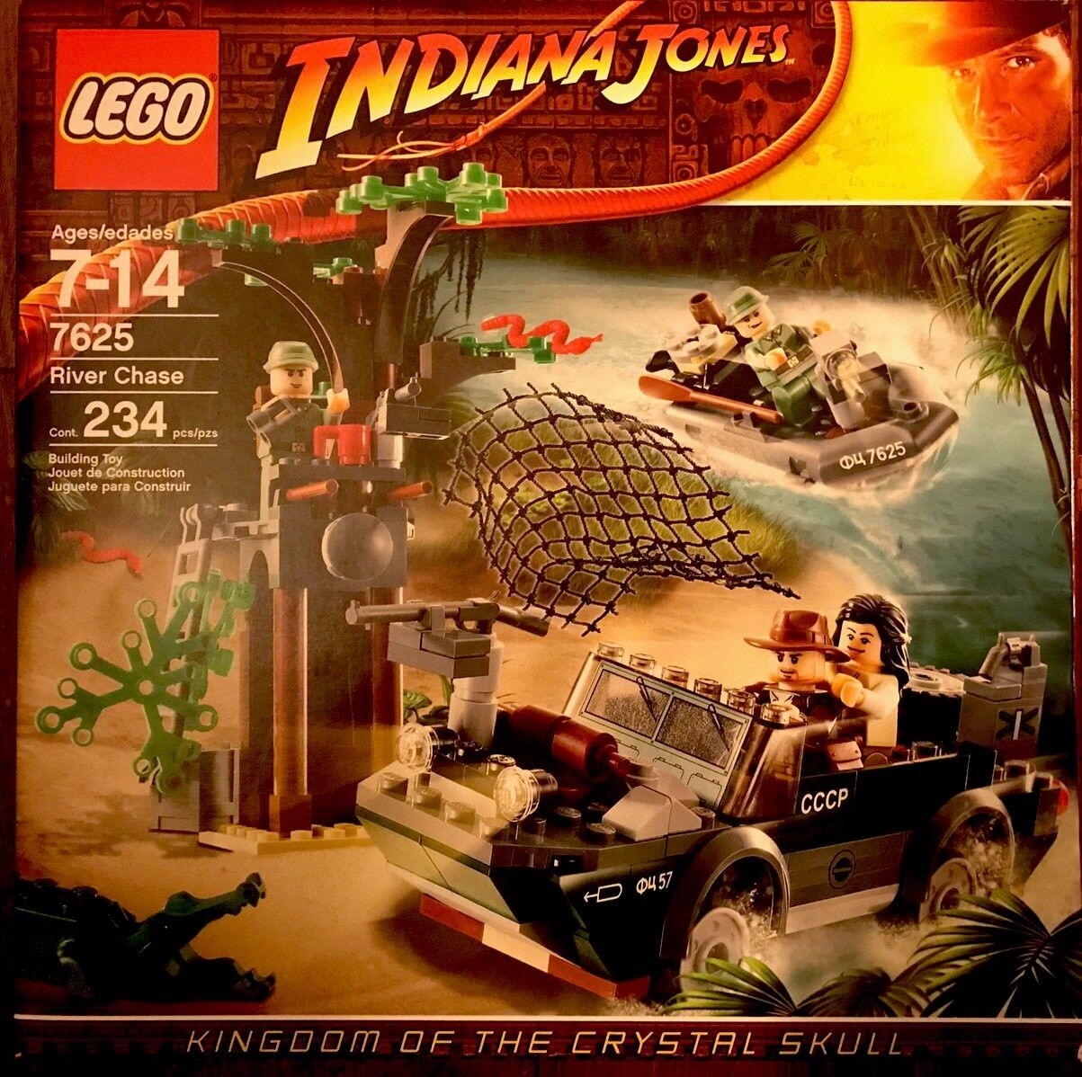 Indiana Jones™ LEGO The River Chase  Amazon Conflict  7625 RETIrosso SET