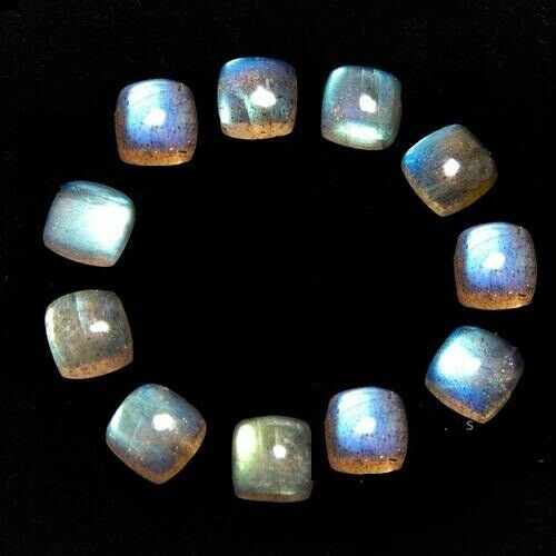 Natural Blue Fire LABRADORITE Loose Gemstone Details about  /Lot Of 10x10mm Cushion Cabochon