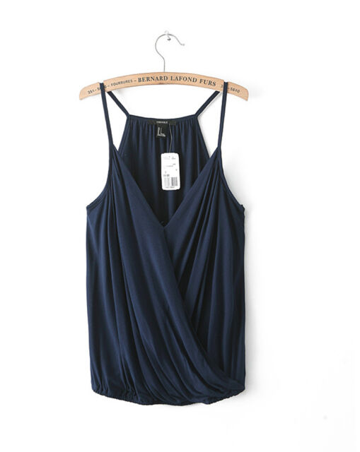 Womens Summer Casual Sleeveless Shirts Cotton Loose Vest Tank Tops Blouse YOGA