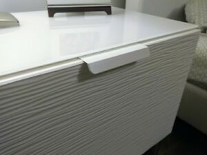 Details About 5 1/2 White Finger Pull For Drawer Or Cabinet