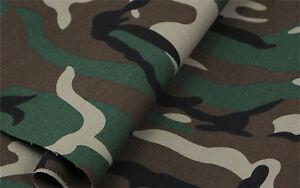 Verde-Mimetico-Tessuto-Tenda-Fodera-Materiale-140-cm-Ampiezza