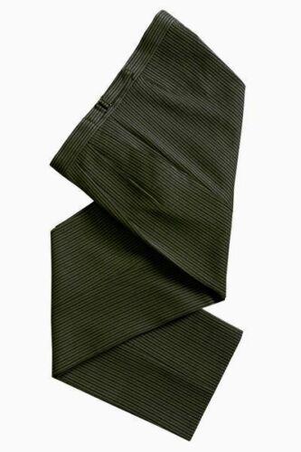 TODDLER TO BOYS WEDDING DARK GREEN STRIPE STRIPED DRESS TAILCOAT TROUSERS PANTS