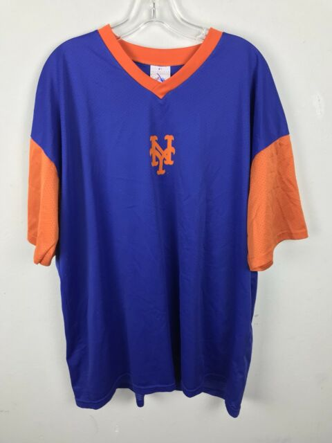 67f86d7b96bee Vintage 1980s Mens New York Mets Baseball Shirt Size XL Blue Orange Majestic