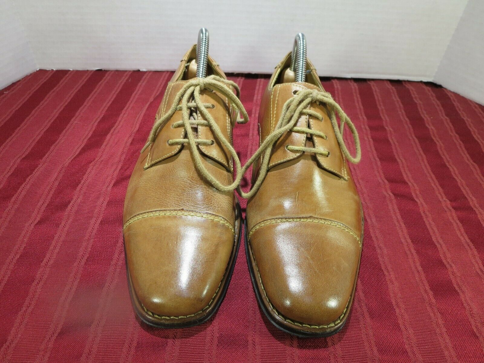 Sandro Muscoloni Brown Leather Cap Toe Dress Oxford shoes Men Size 8M