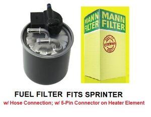 MANN Fuel Filter, 5 pin connector, heat sensor For Mercedes Sprinter