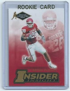Details About Adrian Peterson 2007 Press Pass Insider Insight Rookie Card Ii 17