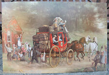 E. Wood Perry Pemigewasset Coach Stagecoach Mounted Print