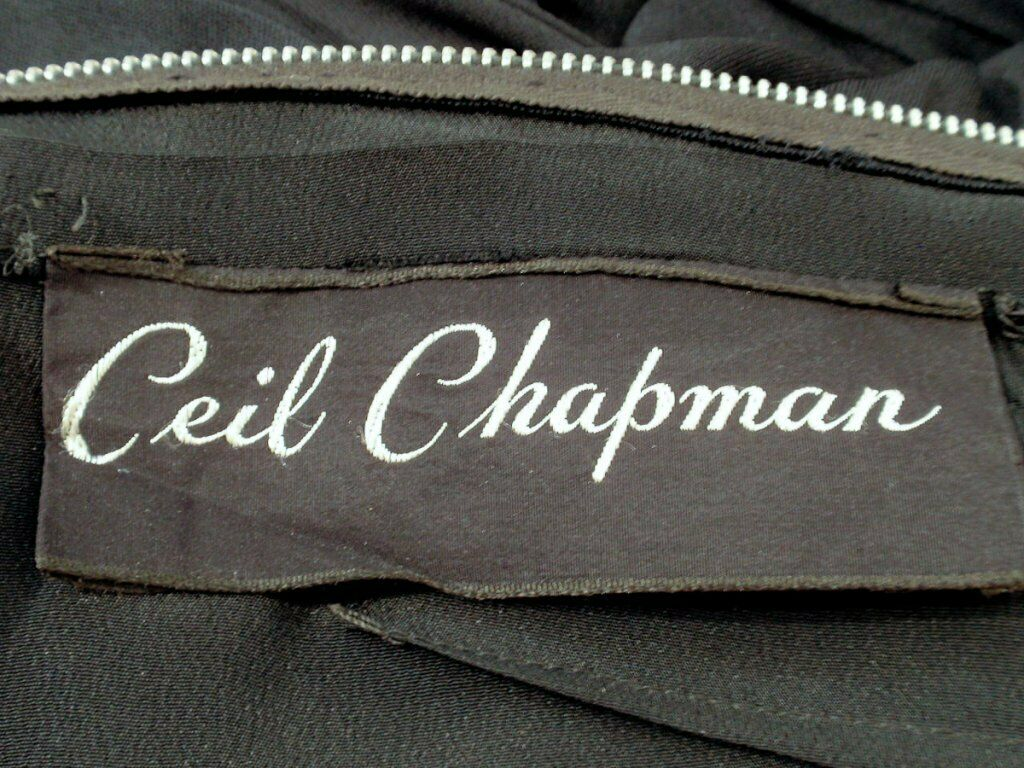 CEIL CHAPMAN Black Ruched Cocktail Dress with 3/4… - image 10