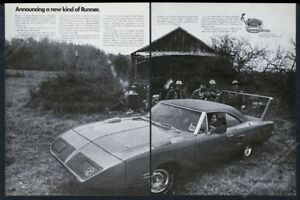 1970 Plymouth Superbird car photo A New Kind Of Runner vintage print ad