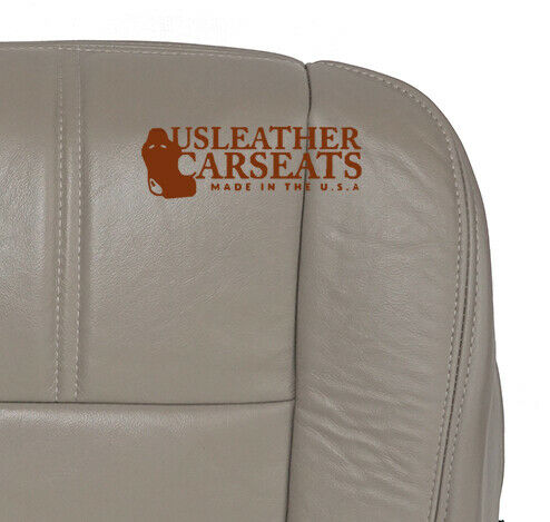 2008 2009 Ford F250 Passenger Side Bottom Leather Seat Cover Stone Gray