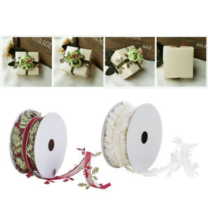 20-Meters-Leaf-Lace-Trim-Ribbon-Embellishment-for-Wedding-Gift-Wrapping-40mm
