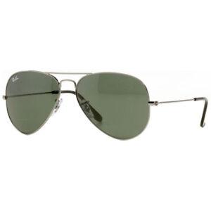 5250c4d9fbb Ray-Ban RB3025 W0879 58mm Gunmetal G15 Green Aviator Sunglasses for ...