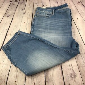 2ab997b3af6b4 NWT Torrid Women s Plus Girlfriend Jeans Button Fly Med Wash Size ...