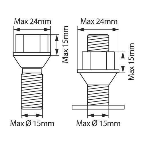 Antifurto per dado//bullone ruota di scorta