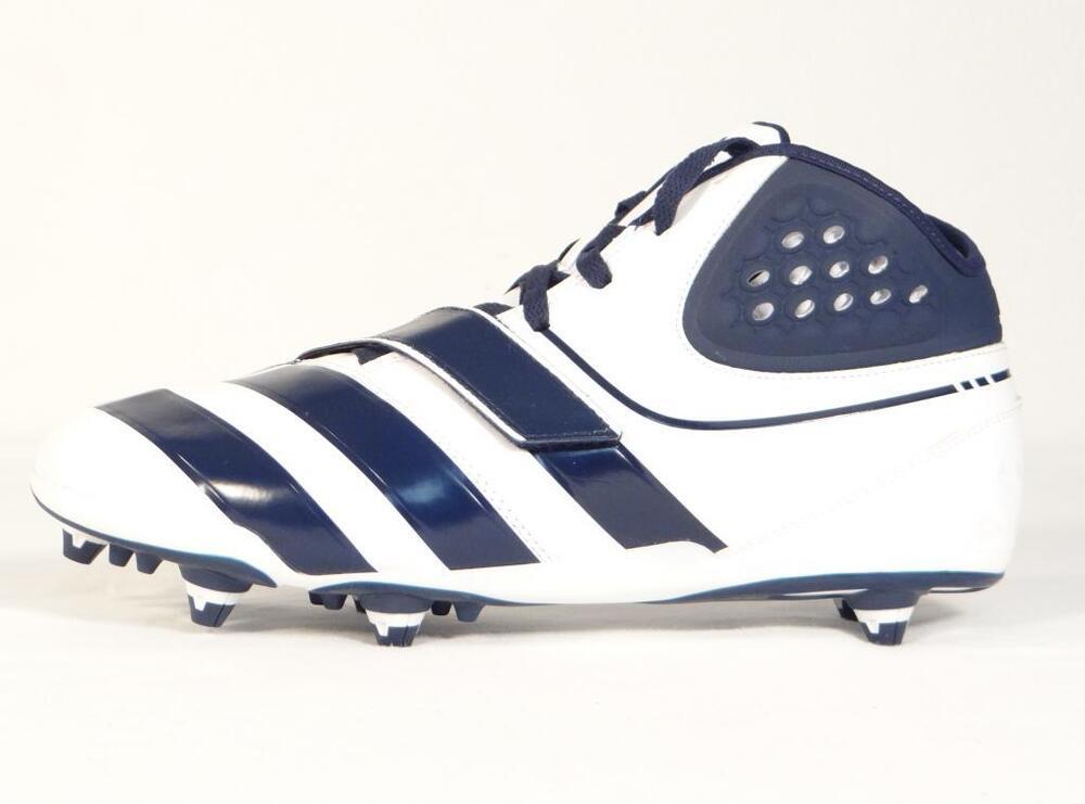 Adidas Malice D Bleu & blanc Football Cleats Detachable Cleats homme NWT