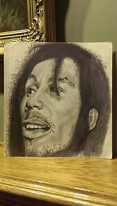 Original Vintage Artwork - Pencil Drawing Sketch - Abstract Studio Art Portrait
