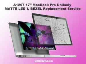 A1297-17-034-Unibody-MacBook-Pro-MATTE-LED-amp-BEZEL-Replacement-Repair-Service
