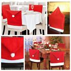 Santa Claus Hat Chair Back Covering Christmas Dinner Party Home Table Decor Gift