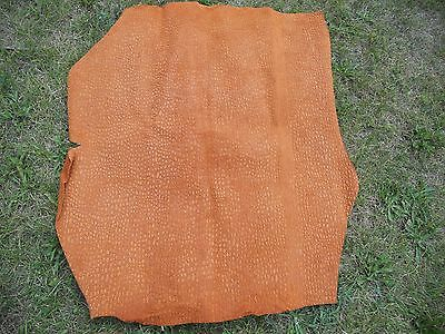 Burnt Orange alligator print genuine leather sheet crafts DIY