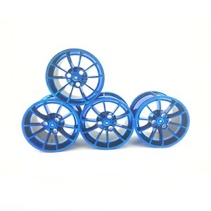Technic-Wheels-Tires-Car-Rims-42056-42083-42096-Blue-Building-Blocks-Bricks-MOC