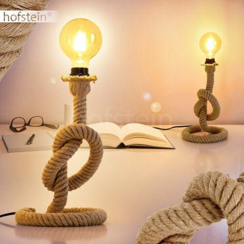 Vintage Nacht Tisch Lese Lampen Kordel braun Schlaf Wohn Zimmer Raum Beleuchtung