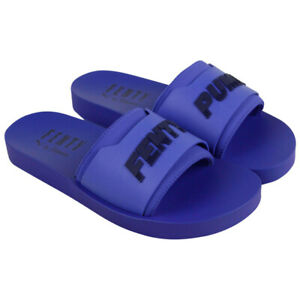 PUMA-FENTY-Rihanna-Ladies-Blue-Surf-Slides-Womens-Fashion-Slip-On-Sandals