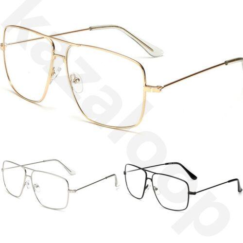 5fecd32020 Retrò argento in in con montatura '70 moda Occhiali Vintage unisex metallo  oro grande anni metallo ...