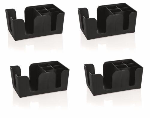 4 Stück Kunststoff schwarz 24x15x11 cm Barbehälter Barcaddy Bar-Caddy