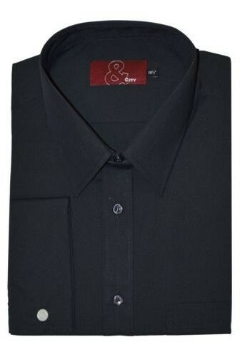 Mens Easy Care Poly Cotton Double Cuff Shirts