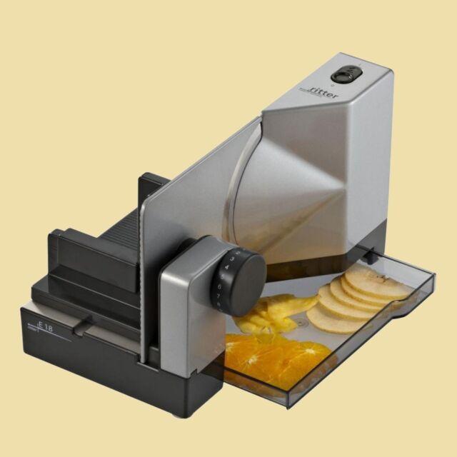 Ritter Metall - Allesschneider für Linkshänder - E 18 Kontur - silbermetallic