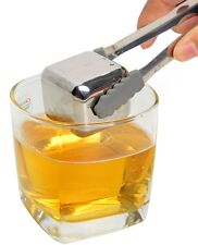 1x 40mm Giant Whiskey Whisky Stones Stainless Steel Ice Cube Wine Chiller Cooler