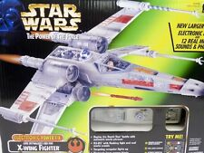 STAR WARS POTF ELECTRONIC POWER F/X LUKE SKYWALKER'S RED FIVE X-WING FIGHTER NIB