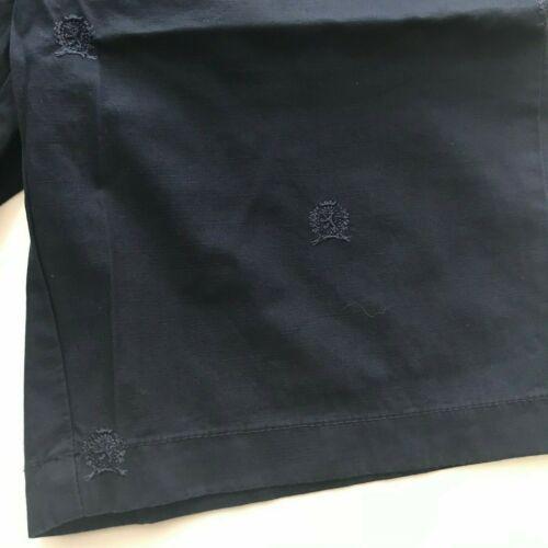 "NWT Tommy Hilfiger Men/'s Belted 9 /"" Inseam Shorts Embroidered Crest Navy W32 W34"