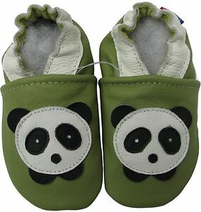 d53c6a1c1379d9 carozoo panda green 18-24m soft sole leather baby shoes 705087339325 ...