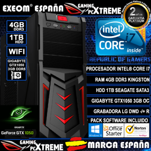 Ordenador-Gaming-Sobremesa-Intel-i7-4GB-1TB-GTX1050-3GB-DDR5-Wifi-HDMI-Pc-Juegos