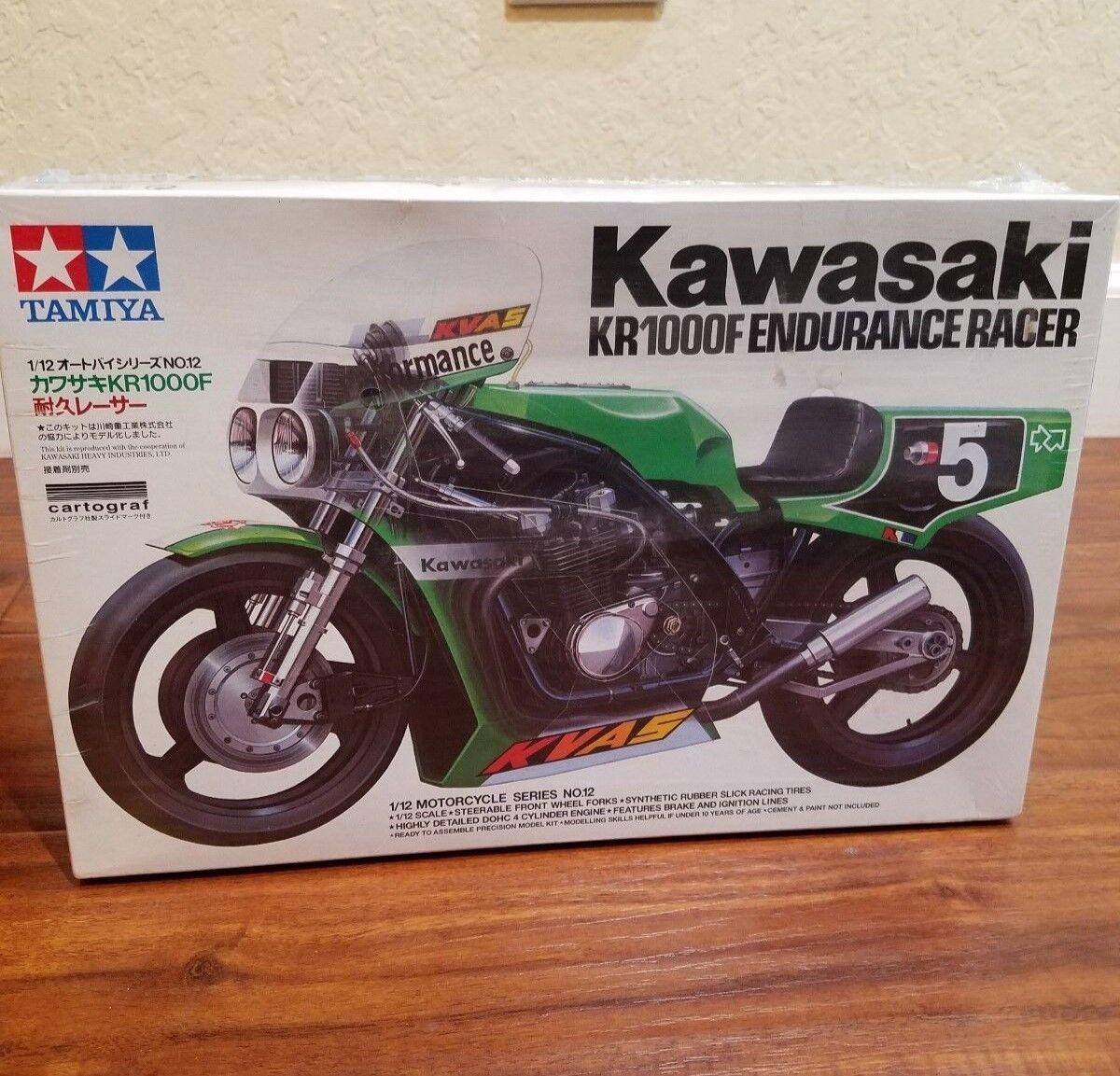 KAWASAKI KR1000F resistencia Racer Tamiya 1 12 Motocicleta Nuevo