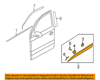 GENUINE Door Weather-Strip Front DRIVER for 10-15 Hyundai Tucson OEM 821302S000