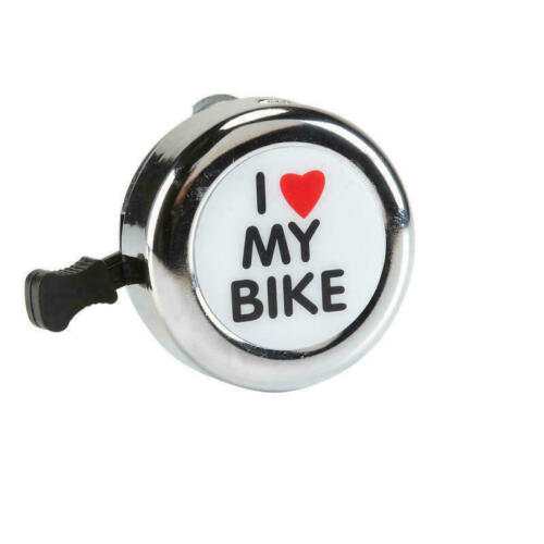 `I LOVE MY BIKE` BICYCLE BELL Hand Ring Cycle Horn Mountain Kids Road Safety UK