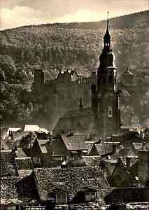 Kirchen-Motiv-Postkarte-Heiliggeist-Kirche-in-Heidelberg-s-w-AK-ungelaufen-1960