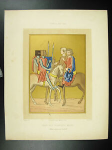 Yvain-Of-Gorre-The-White-Hands-Krause-Ap-Ciappori-Litho-Xixth-1858-Hangard