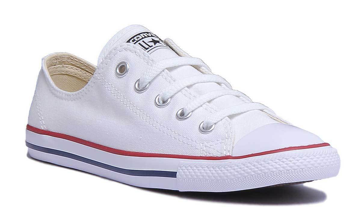 Converse Size 537204C Womens Dainty Slim White Canvas Trainer Size Converse UK 3 - 8 ea8cd3