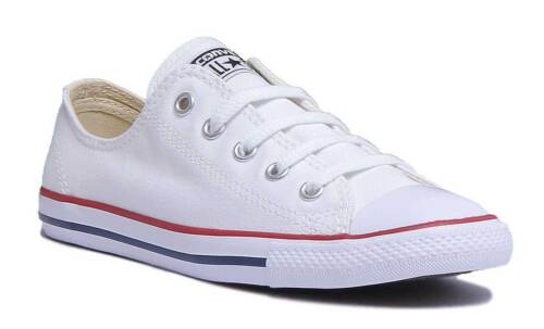 Femme 537204c Blanche Fine Taille Formateur 3 Dainty Converse Uk 8 Toile HFSRFw