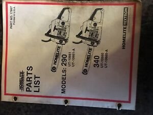 Image Is Loading Homelite Chainsaw Parts List Ipl 290 340 Series