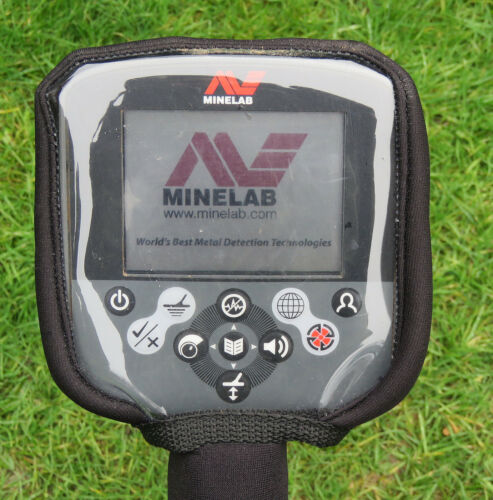 BLACK NEOPRENE CONTROL BOX COVER TO FIT MINELAB CTX METAL DETECTOR