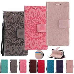 Leather-Magnetic-Wallet-Slim-Stand-Phone-Case-Cover-For-Sony-Xperia-M5-XA1-Ultra